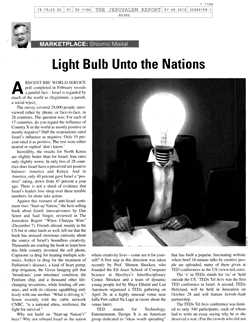 Light Bulb Unto the Nations