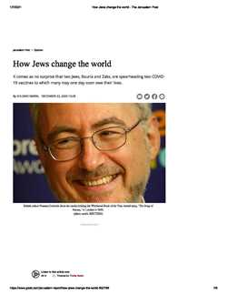 How Jews Change the world