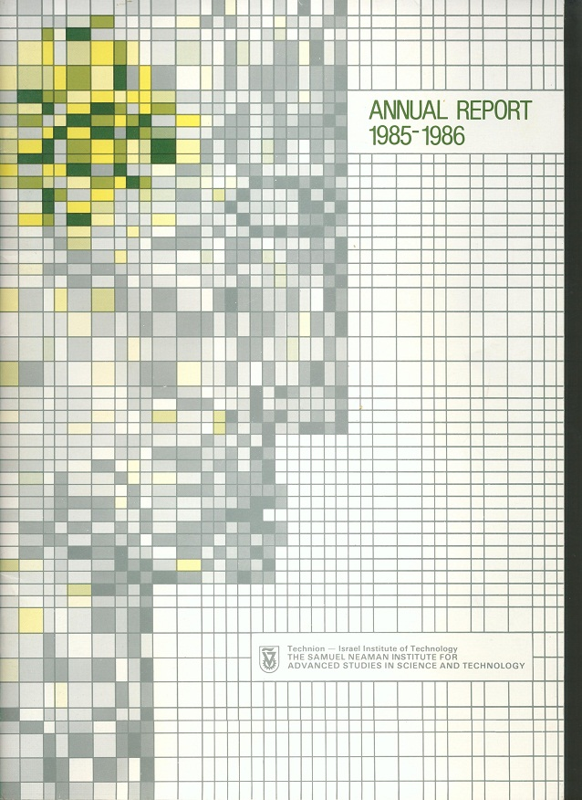 Annual Report 1985-1986 Samuel Neaman Institute