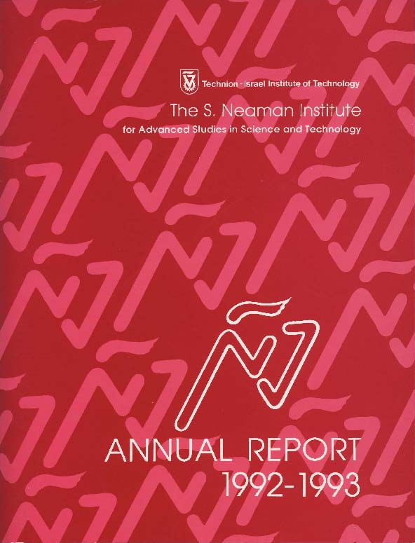 Annual Report 1992-1993 Samuel Neaman Institute