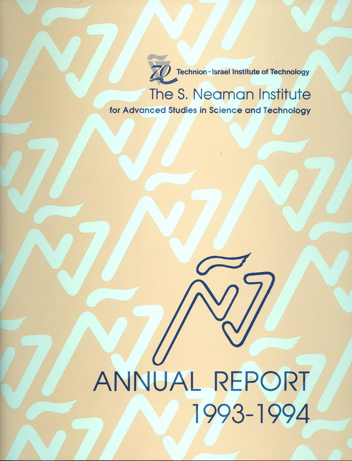 Annual Report 1993-1994 Samuel Neaman Institute