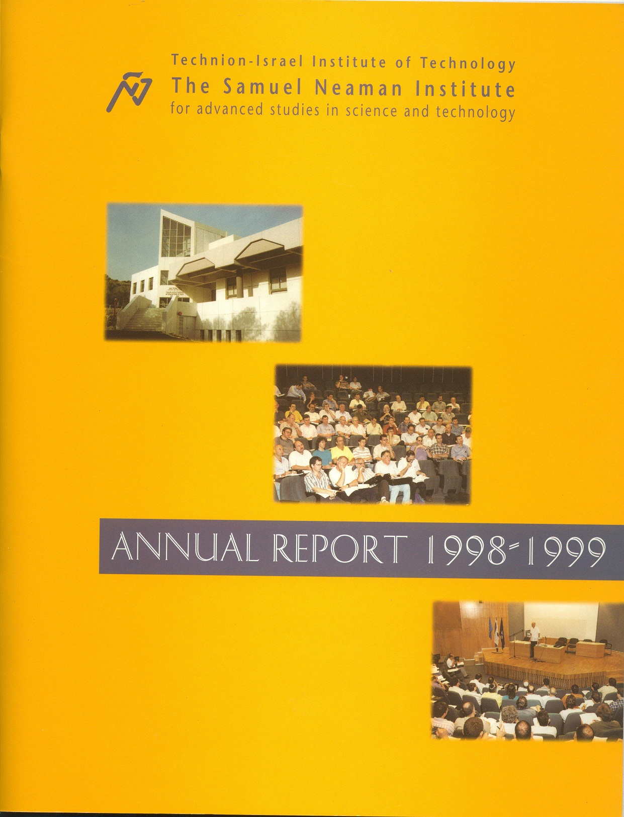 Annual Report 1998-1999 Samuel Neaman Institute