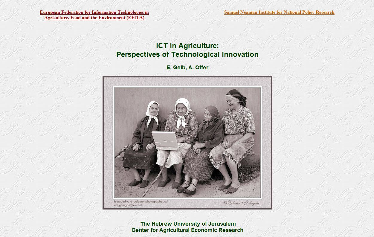 ICT in Agriculture: Perspectives of Technological Innovation