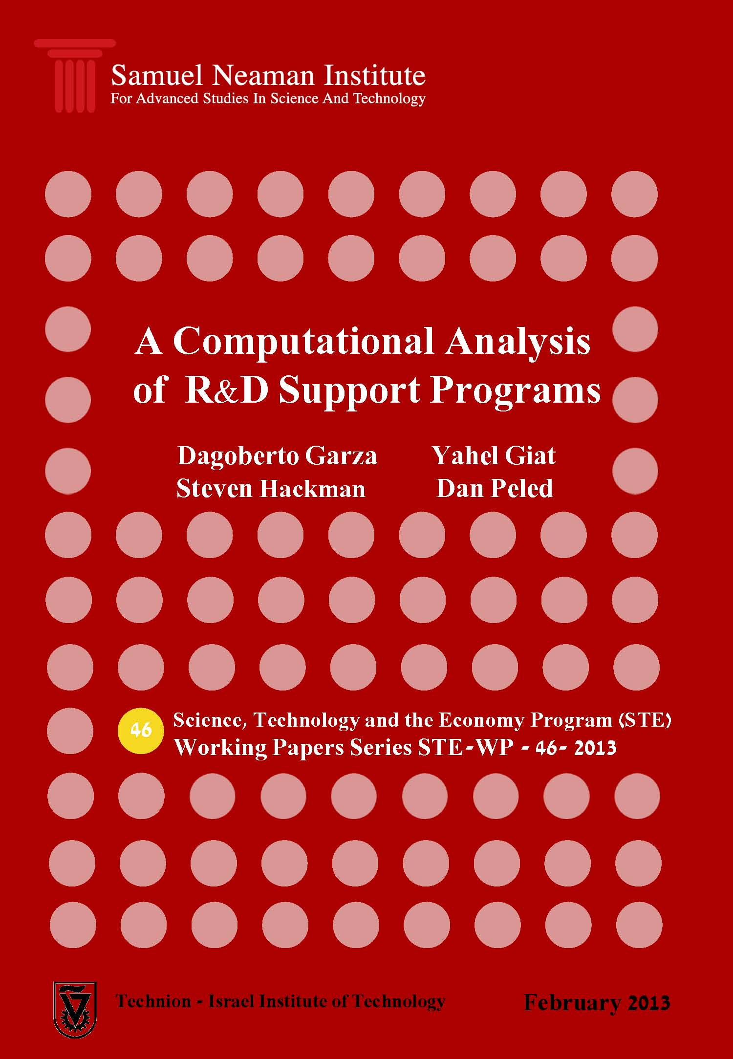A Computational Analysis of R&D Support Programs