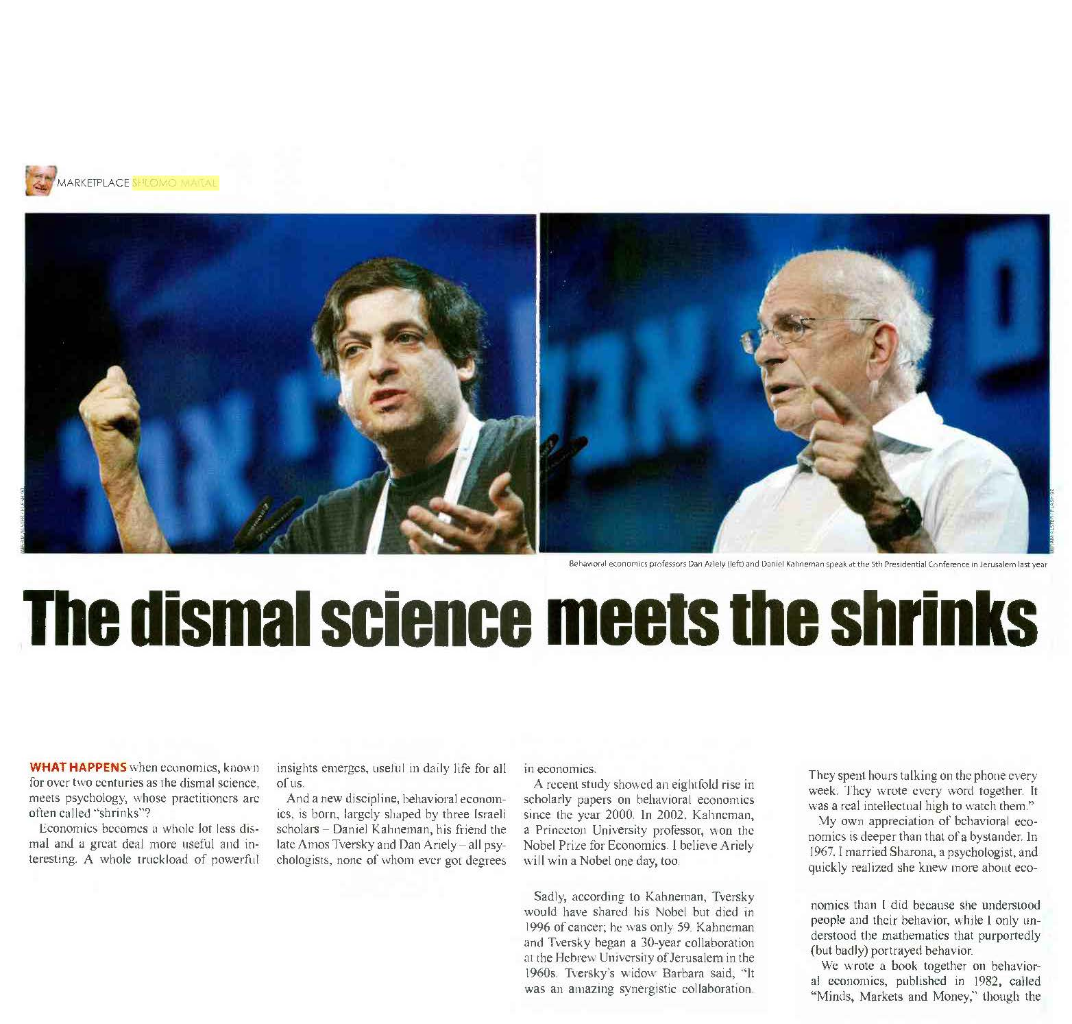 The dismal science meets the shrinks
