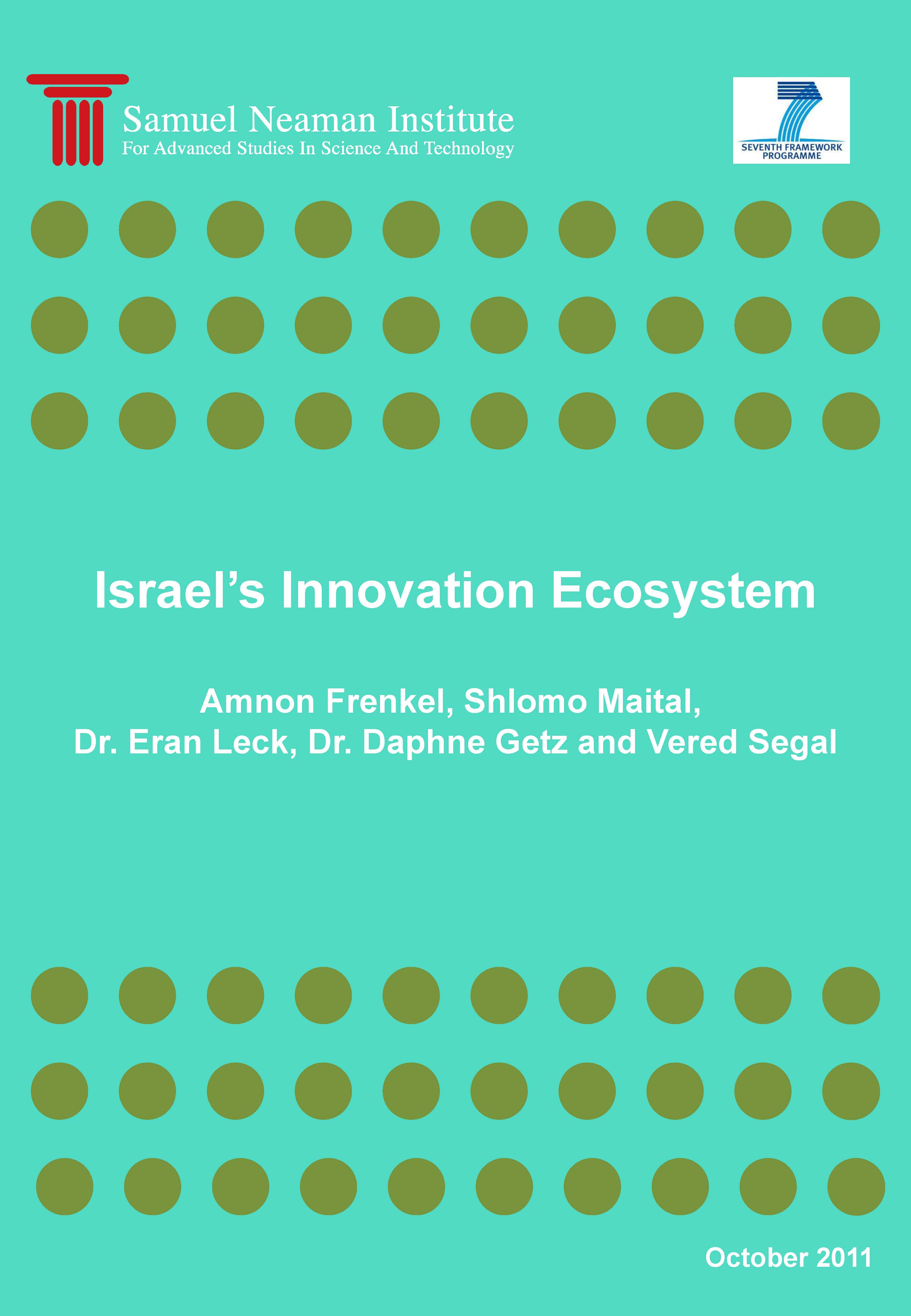 """Toward Mapping National Innovation Ecosystems:  Israel's Innovation Ecosystem"""