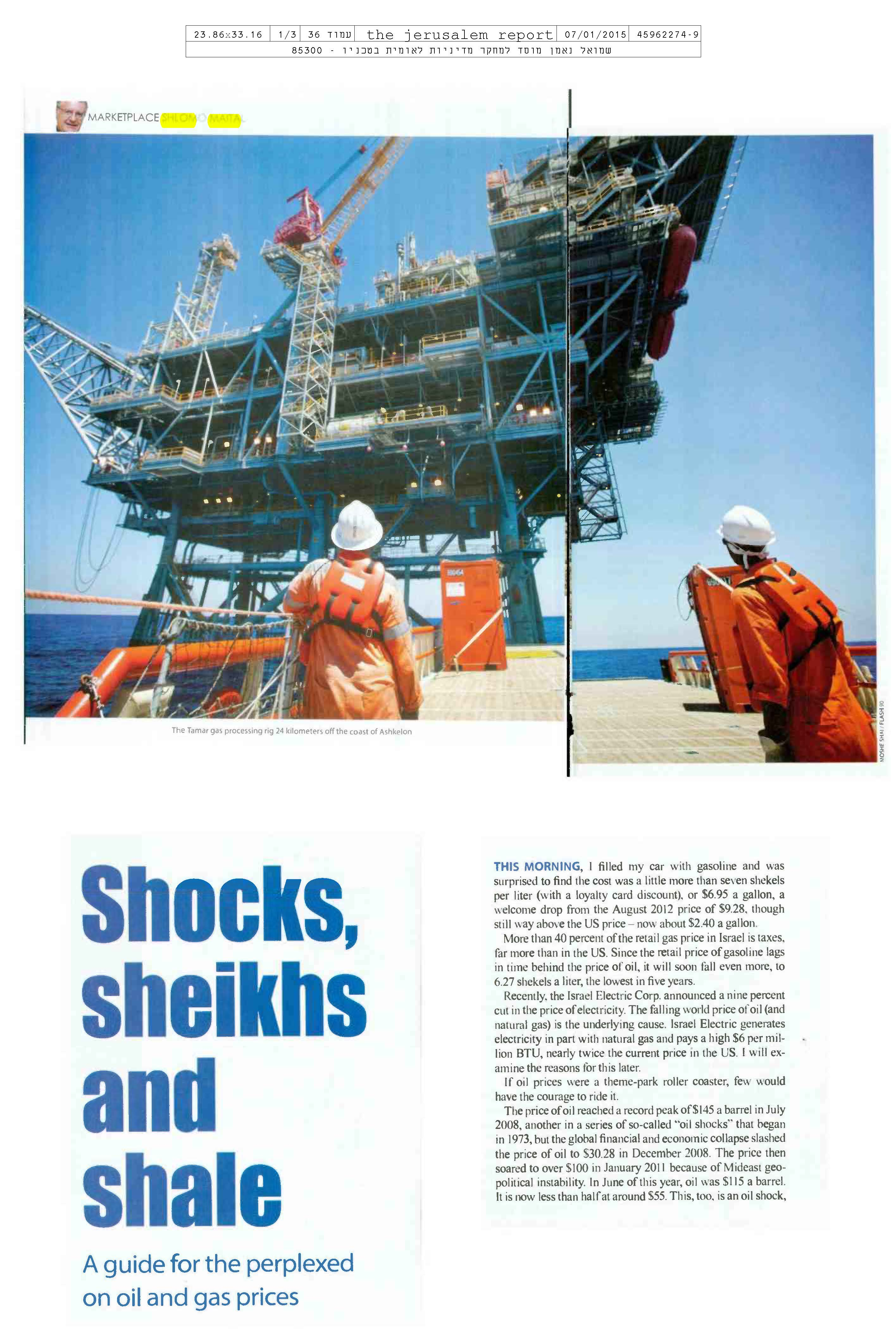 Shocks, sheikhs and shale