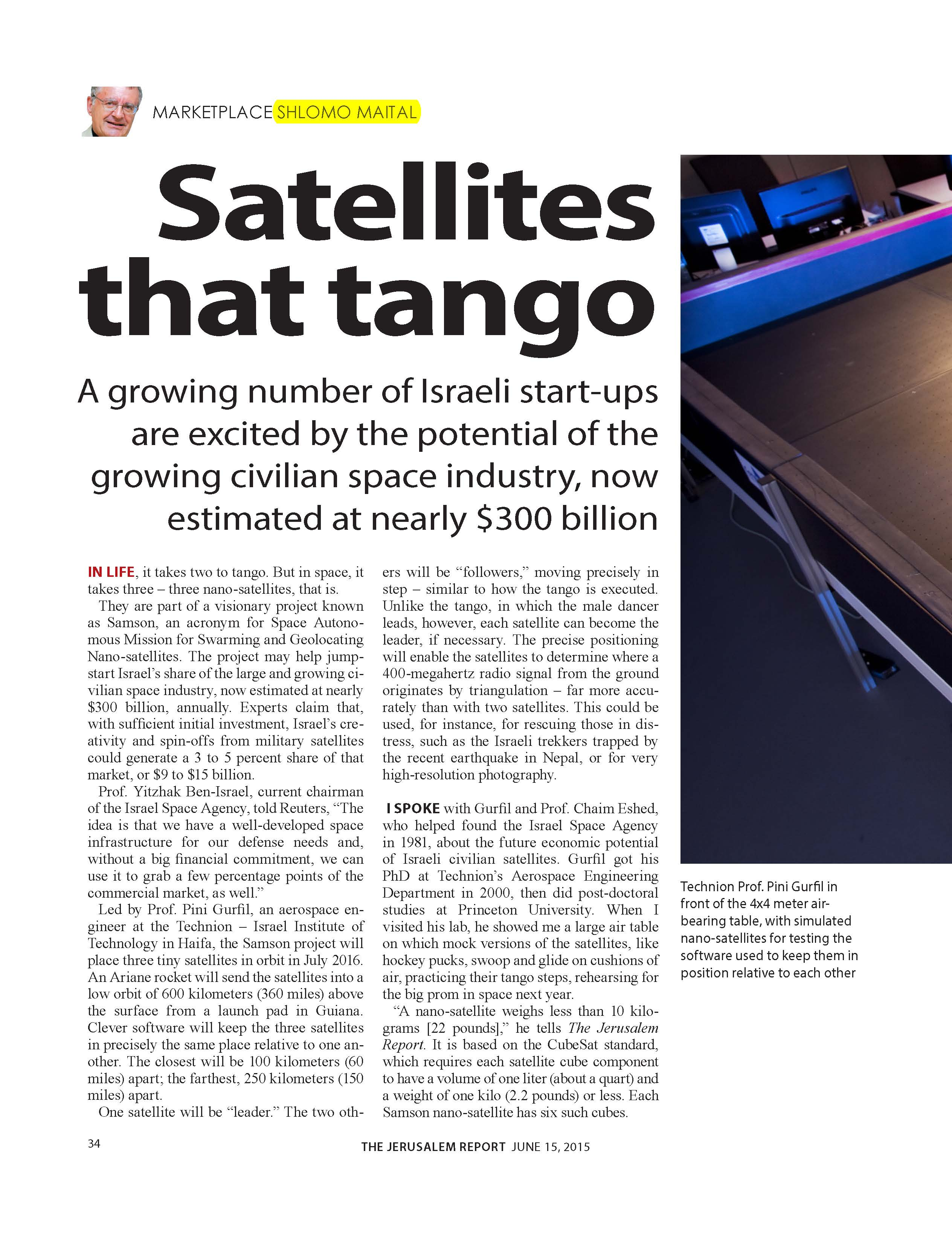 Satellites that tango