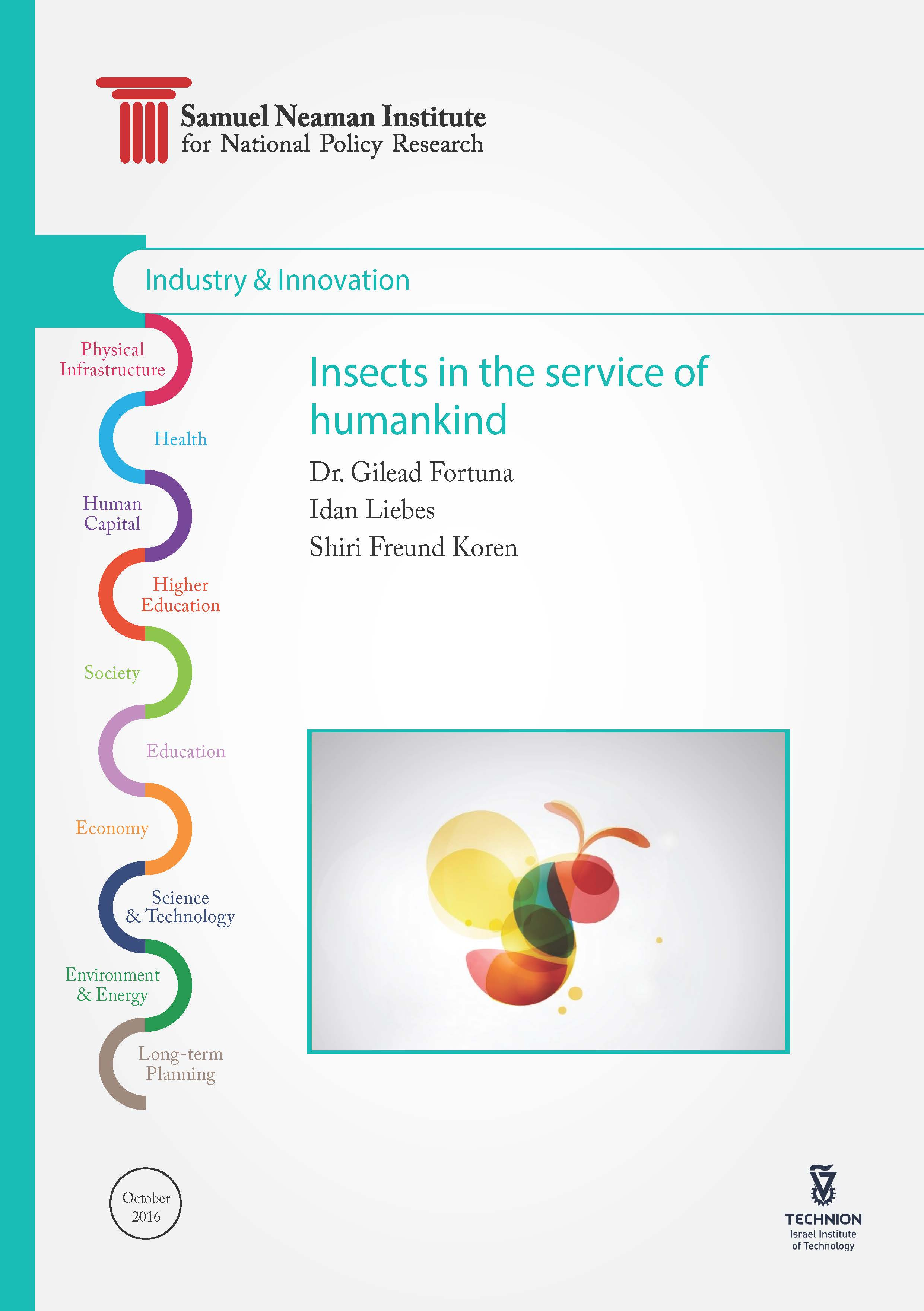 Insects in the Service of Man: Review and Recommendations for the City of Afula as a Hub to Promote the Field - English version