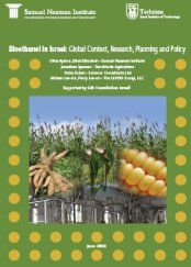 Bioethanol in Israel: global context, research, planning and policy