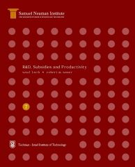 R&D, Subsidies and Productivity, Science, Technology and the Economy Program STE-WP-7