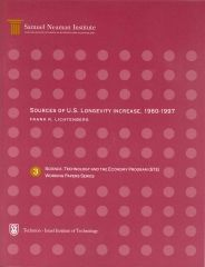 Sources of U.S. Longevity Increase, 1960-1997, Science, Technology and the Economy Program STE-WP-3