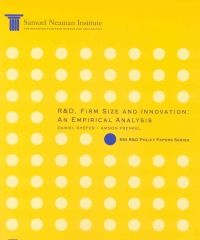 R&D, Firm Size and Innovation: An Empirical Analysis, SNI R&D Policy Papers Series
