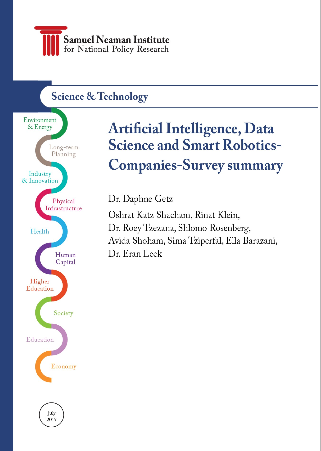 Artifcial Intelligence, Data Science and Smart Robotics Companies-Survey summary